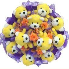 11 adet pelus ayicik buketi  Artvin çiçek mağazası , çiçekçi adresleri