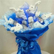 7 adet pelus ayicik buketi  Artvin çiçek , çiçekçi , çiçekçilik