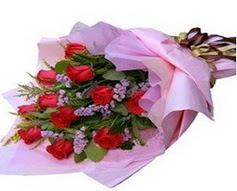11 adet kirmizi güllerden görsel buket  Artvin çiçek gönderme sitemiz güvenlidir