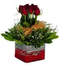 Artvin çiçek gönderme  7 adet mika yada cam vazoda gül tanzimi