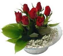 Artvin internetten çiçek satışı  cam yada mika içerisinde 5 adet kirmizi gül