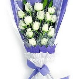 Artvin çiçekçi mağazası  11 adet beyaz gül buket modeli