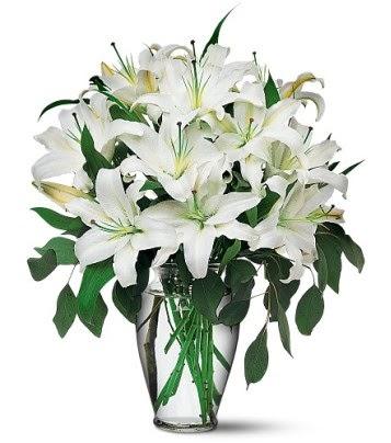 Artvin internetten çiçek satışı  4 dal kazablanka ile görsel vazo tanzimi