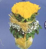 Artvin anneler günü çiçek yolla  Cam vazoda 9 Sari gül