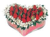 Artvin çiçekçi telefonları  mika kalpte kirmizi güller 9
