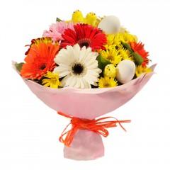 Karışık mevsim buketi Mevsimsel çiçek  Artvin internetten çiçek siparişi