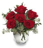 Vazo içerisinde 5 adet kırmızı gül  Artvin çiçekçi mağazası