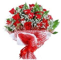 11 kırmızı gülden buket  Artvin 14 şubat sevgililer günü çiçek