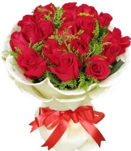 19 adet kırmızı gülden buket tanzimi  Artvin çiçek servisi , çiçekçi adresleri