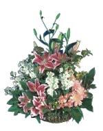 Artvin online çiçek gönderme sipariş  Pembe gerbera ve lilyum sepeti