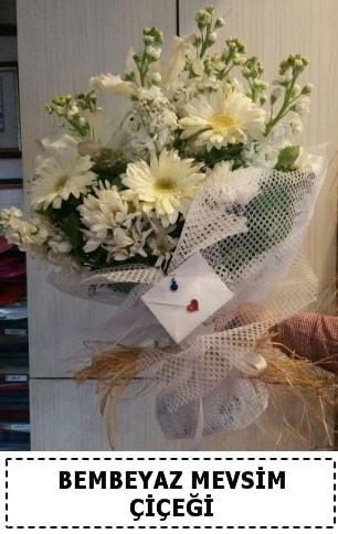 Bembeyaz görsel mevsim çiçek buketi  Artvin çiçek yolla