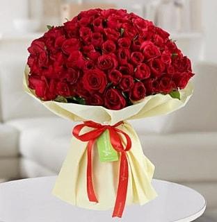 101 adet kırmızı gül buketi koca demet  Artvin internetten çiçek siparişi
