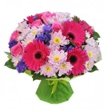 Karışık mevsim buketi mevsimsel buket  Artvin çiçek satışı