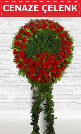 Kırmızı Çelenk Cenaze çiçeği  Artvin İnternetten çiçek siparişi