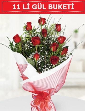 11 adet kırmızı gül buketi Aşk budur  Artvin çiçek gönderme sitemiz güvenlidir