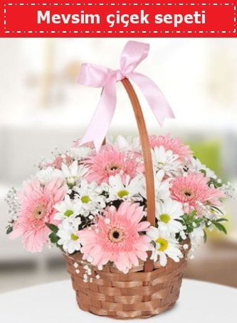 Mevsim kır çiçek sepeti  Artvin çiçek , çiçekçi , çiçekçilik